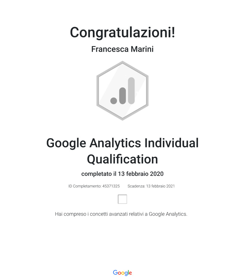 Google Analytics Individual Qualification _ Google 2020